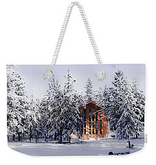 Weekender Tote Bag featuring the photograph Country Christmas by Janie Johnson