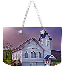 Country Church At Sunset Art Prints Weekender Tote Bag