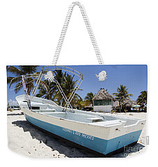 Weekender Tote Bag featuring the photograph Cozumel Mexico Fishing Boat by Shawn O'Brien