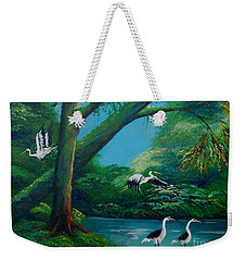 Cranes On The Swamp Weekender Tote Bag