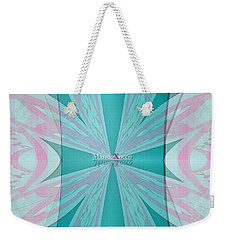 Cream Mint Flow Weekender Tote Bag