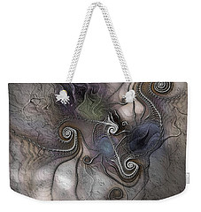 Weekender Tote Bag featuring the digital art Creatively Calcified by Casey Kotas