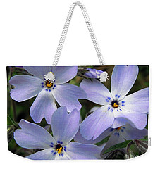 Weekender Tote Bag featuring the photograph Creeping Phlox by J McCombie