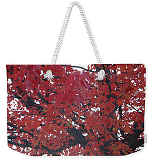 Crimson Leaves Weekender Tote Bag