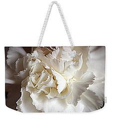 Weekender Tote Bag featuring the photograph Crisp Carnation Photo by Deniece Platt