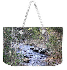 Weekender Tote Bag featuring the photograph Crooked Creek by Donna G Smith
