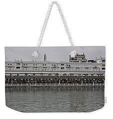 Weekender Tote Bag featuring the photograph Crowd Of Devotees Inside The Golden Temple by Ashish Agarwal