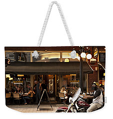 Weekender Tote Bag featuring the photograph Crusin' Ybor by Steven Sparks