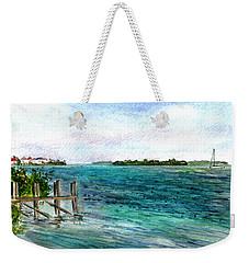 Cudjoe Bay Weekender Tote Bag by Clara Sue Beym