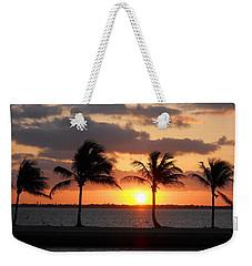 Weekender Tote Bag featuring the photograph Cudjoe Sunrise by Clara Sue Beym