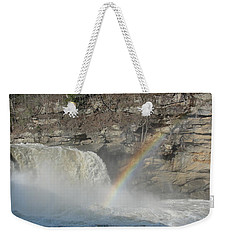 Weekender Tote Bag featuring the photograph Cumberland Falls by Tiffany Erdman