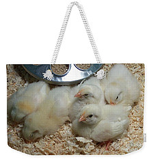 Cute And Fuzzy Chicks Weekender Tote Bag by Chalet Roome-Rigdon