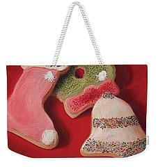 Weekender Tote Bag featuring the painting Cutouts by Joe Winkler