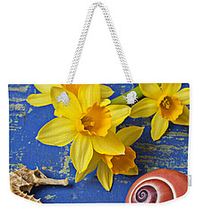 Daffodils And Seahorse Weekender Tote Bag
