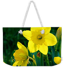 Weekender Tote Bag featuring the photograph Daffodils by Sherman Perry