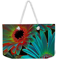 Weekender Tote Bag featuring the photograph Daisies From Another Dimension by Rory Sagner