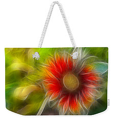 Weekender Tote Bag featuring the photograph Dalia Pseudo Fractal by Lynne Jenkins