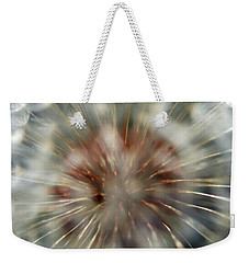 Dandelion Fluff Weekender Tote Bag by Kay Lovingood
