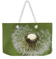 Dandelion Half Gone Weekender Tote Bag by Teresa Zieba