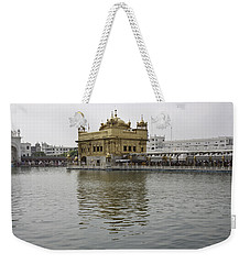 Weekender Tote Bag featuring the photograph Darbar Sahib And Sarovar Inside The Golden Temple by Ashish Agarwal