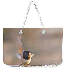 Dark-eyed Junco Taking Flight Weekender Tote Bag by Sean Griffin
