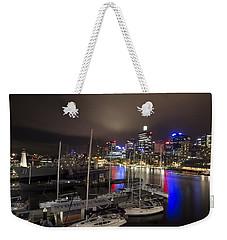 Darling Harbor Sydney Skyline 2 Weekender Tote Bag by Douglas Barnard