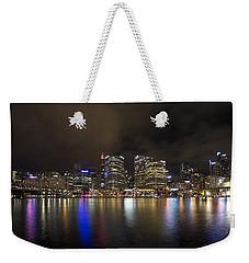 Darling Harbor Sydney Skyline Weekender Tote Bag by Douglas Barnard