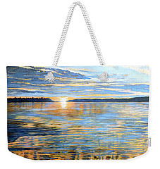 Weekender Tote Bag featuring the painting Davidson Quebec by Tom Roderick