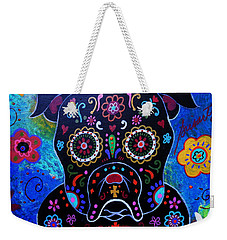 Day Of The Dead Bulldog Weekender Tote Bag
