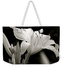 Daylily Study In Bw Iv Weekender Tote Bag