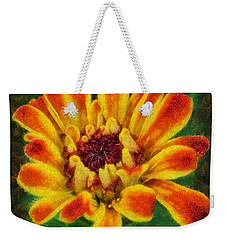 Dazzling Zinnia Weekender Tote Bag