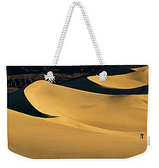 Death Valley And Photographer In Morning Sun Weekender Tote Bag by William Lee