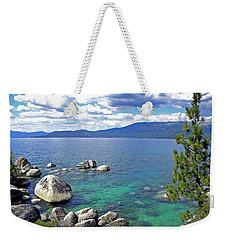 Deep Waters Lake Tahoe Weekender Tote Bag