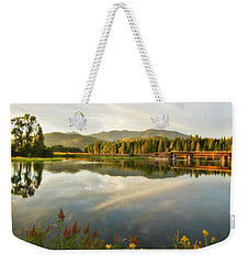 Deer Island Bridge Weekender Tote Bag by Albert Seger