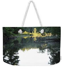 Deer River In Early Sun Weekender Tote Bag