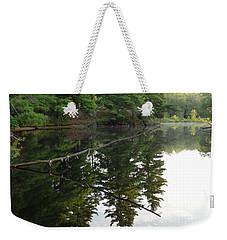 Deer River Reflection Weekender Tote Bag