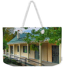 Weekender Tote Bag featuring the photograph Delaware Park Casino by Michael Frank Jr