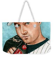 Derek Jeter  Weekender Tote Bag by Bruce Lennon