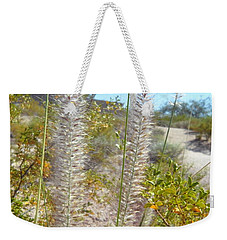 Weekender Tote Bag featuring the photograph Desert Trail by Kume Bryant