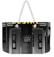 Desire Corner Bourbon Street French Quarter New Orleans Color Splash Black And White Digital Art  Weekender Tote Bag