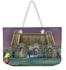 Detroit's Michigan Central Station - Michigan Central Depot Weekender Tote Bag by Nicholas  Grunas