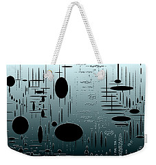 Digital Dimension In Aquamarine Series Image 1 Weekender Tote Bag
