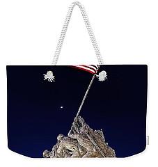 Digital Drawing - Iwo Jima Memorial At Dusk Weekender Tote Bag