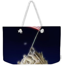Digital Lightening - Iwo Jima Memorial Weekender Tote Bag