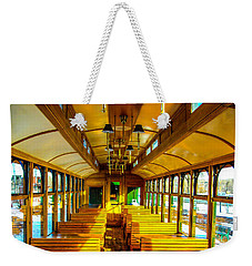 Weekender Tote Bag featuring the photograph Dining Car by Shannon Harrington