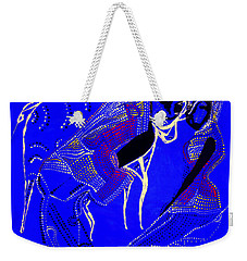 Weekender Tote Bag featuring the painting Dinka Marriage by Gloria Ssali