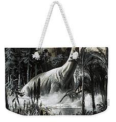 Dinosaurs Weekender Tote Bag by Roger Payne