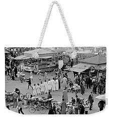 Weekender Tote Bag featuring the photograph Djemaa El Fna Marrakech Morocco by Tom Wurl