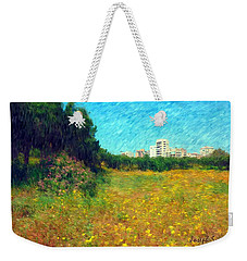 Weekender Tote Bag featuring the photograph Do-00479 Bois Des Pins - Impressionist by Digital Oil