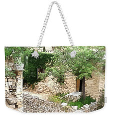 Weekender Tote Bag featuring the photograph Do-00486 Old House From Citadel by Digital Oil